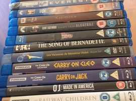 PHOTO'S UPDATED as SOLD some titles 22nd October...Great selection of Blu Ray films including Disney, Rare, Marvel, Cult Classics etc