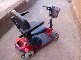 RED PRIDE REVO 4 MOBILITY SCOOTER - one careful owner!!