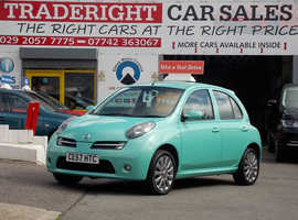 Nissan Micra, 2007 (57) Green Hatchback, Manual Petrol, 42,765 miles