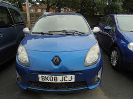 Renault Twingo, 2008 (08) Blue Hatchback, Manual Petrol, 69,000 miles