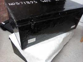 RAF black metal travel trunk