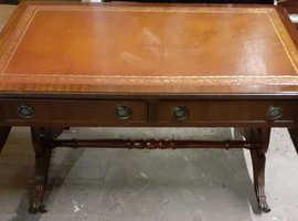 Large Mahogany Dropleaf Coffee Table