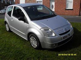 Citroen C2, 2004 (54) Silver Hatchback, Manual Petrol, 80 miles