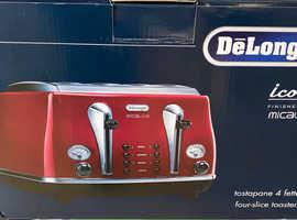 DeLonghi Icona 4 slice Toaster brand new with 12mth Warranty