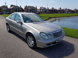 Mercedes E Class, 2004 (04) Silver Saloon, Automatic Diesel, 207,340 miles