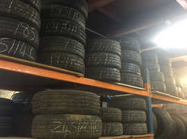 Car tyres  250 job lot