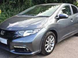 Honda Civic, 2012 (12) Grey Hatchback, Manual Diesel, 31,000 miles