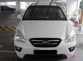 Kia Carens, 2009 (09) White MPV, Manual Diesel, 95000 miles