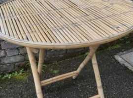 vintage Bamboo Garden Table