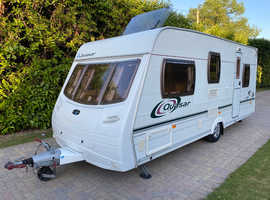 Lunar Quasar 525 5 berth 2004 Caravan with Rear Dinette and Awning
