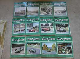 1962 MOTORPSORT MAGAZINES COMPLETE SET JAN - DEC