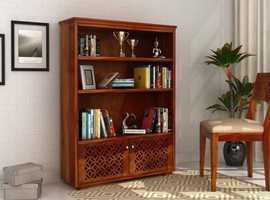 Upto 55% OFF on Solid Wood Bookshelf - WoodenStreet
