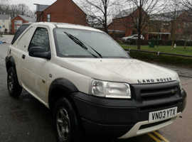 Land Rover Freelander, 2003 (03) White 4x4, Manual Diesel, 100,000 miles