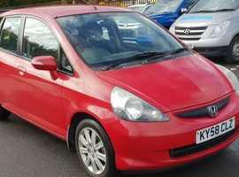 Honda Jazz, 2008 (58) Red Hatchback, Manual Petrol, 119,601 miles