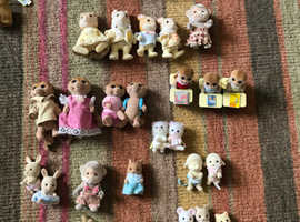 Sylvanian family house, furniture, families and accessories