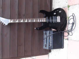 Gigsby guitar, amp and guitar lead.