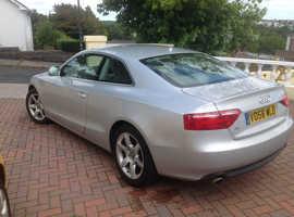 Audi A5, 2008 (58) Silver Coupe, Cvt Diesel, 140,000 miles