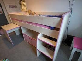 Dreams cabin single bed with desk