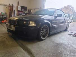 BMW 3 Series, 2001 (Y) Black Convertible, Manual Petrol, 162,000 miles