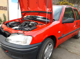 Peugeot 106, 2000 (W) Red Hatchback, Manual Petrol, 86,300 miles