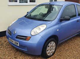 Nissan Micra, 2004 (04) Blue Hatchback, Manual Petrol, 128,720 miles