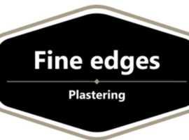 Fine edges plastering
