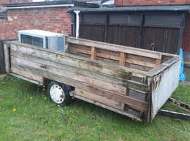 useful trailer ex caravan chassis needs diy hence useful for turf or bricks