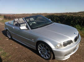 BMW 330CI SPORT  2003 (03) Silver Convertible, Automatic Petrol, 126,263 miles