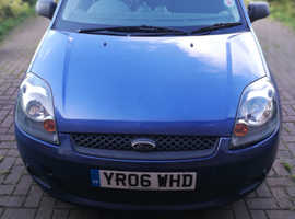 Ford Fiesta, 2006 (06) Blue Hatchback, Manual Petrol, 100,608 miles
