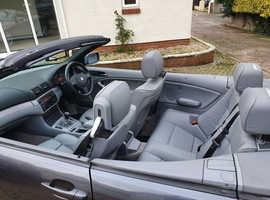 BMW 3 Series, 2005 (55) Grey Convertible, Manual Diesel, 158,000 miles - MSport