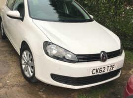 Volkswagen Golf, 2012 (62) White Hatchback, Manual Diesel, 44,000 miles