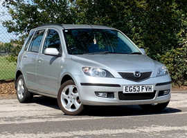 Mazda MAZDA 2 SPORT 1.6 5 DOOR, 2004 (53) Silver Hatchback, Manual Petrol, 69,958 miles, LONG MOT, CAM BELT REPLACED