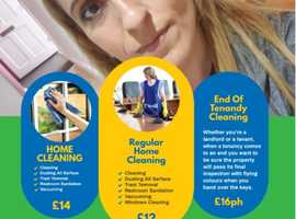 Cleaning services with over 6 year of experience - from £12 p/h for regular cleaning