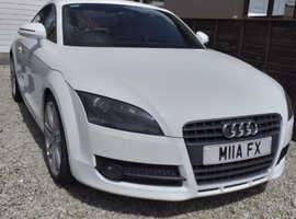 Audi TT, 2007 (07) White Coupe, Manual Petrol, 103,500 miles