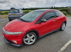 Honda Civic, 2008 (58) Red Hatchback, Manual Diesel, 95,000 miles