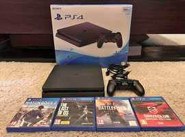 Playstation 4 Slim 1 controller 4 games