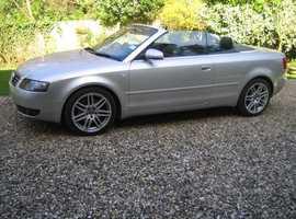 Audi A4, 2002 (52) Silver Convertible, Manual Petrol, 65,000 miles