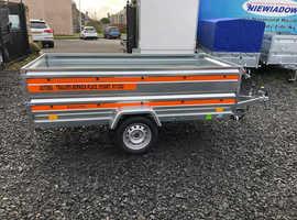 8.7x4.2ft TEMARED ECO 2019 single axle trailer double broadside 27cm board