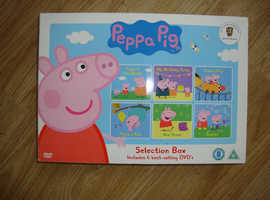Peppa Pig Selection Box 6 Dvd's New/Sealed Trusted Seller..
