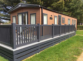 Luxury static lodge in Prime location at popular Sandy Balls park