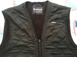 Barbour Polar fleece waistcoat/zip in liner olive green Medium