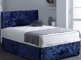 REMARKABLE DEAL FOR DOUBLE  CRUSHED VELVET BED  SALE %