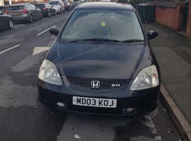 Honda Civic, 2003 (03) Black Hatchback, Manual Petrol, 65,000 miles