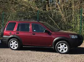 Land Rover Freelander, 2002 (02) Red Estate, Manual Diesel, 82,588 miles