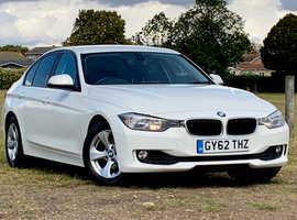 2012 (62) BMW 320d Efficient Dynamics Diesel 4 door Saloon in WHITE, NEW MOT, 1 Previous Owner