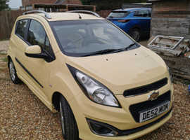 Chevrolet Spark, 2013 (13) Yellow Hatchback, Manual Petrol, 44,052 miles