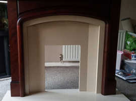 Fire surround and solid marble hearth