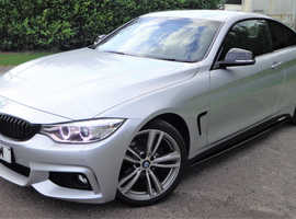 BMW 4 Series 420d M Sport 2dr Coupe, Manual, T/Diesel, M Performance, 19's, P/Plate, FSH, Immaculate