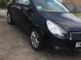 Vauxhall Corsa, 2008 (08) Black Hatchback, Manual Petrol, 76,590 miles