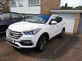Hyundai Santa Fe, 2015 (65) White Estate, 7 Seater, Automatic Diesel, 26,700 miles
